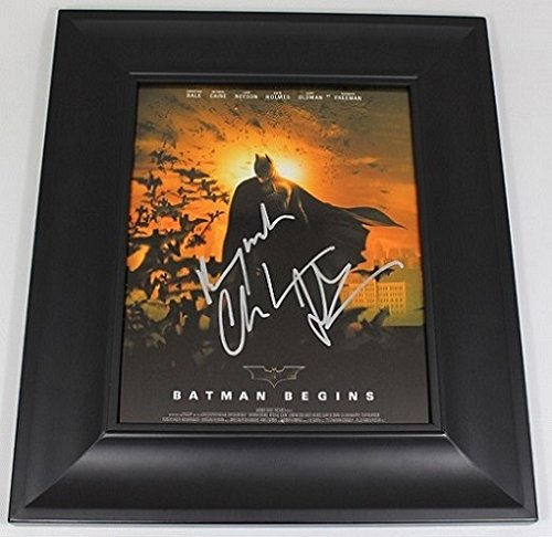 Fender Cut Outs (Christian Bale Batman Begins Authentic Signed Autographed 8x10 Glossy Photo Gallery Framed Loa)
