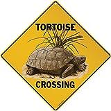 """Tortoise Crossing 12"""" X 12"""" Aluminum Sign"""
