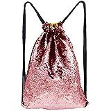Unicorn Mermaid Sequin Drawstring Backpack...