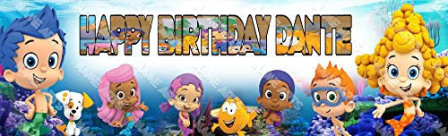 Personalized / Customized Bubble Guppies Name Poster Wall Decor Door Birthday Art Banner