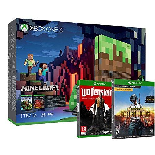 console xbox one s 1to edition limit e minecraft wolfenstein ii playerunknown 39 s. Black Bedroom Furniture Sets. Home Design Ideas