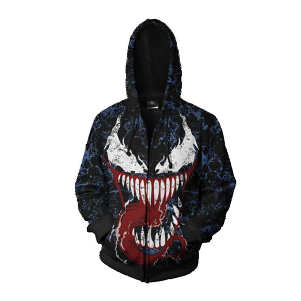 - happyheart happyheart happyheart Men's 3D Spiderman Venom0 Carnage Shirt Hoodie Sweatshirt Jacket Coat Tops Xmas -SA3 19c626