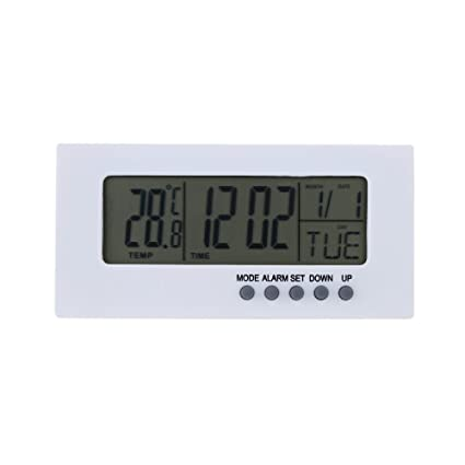 Relojes Meteorológicos Termómetro Digital Reloj Calendario Luz Despertador Oficina Hogar