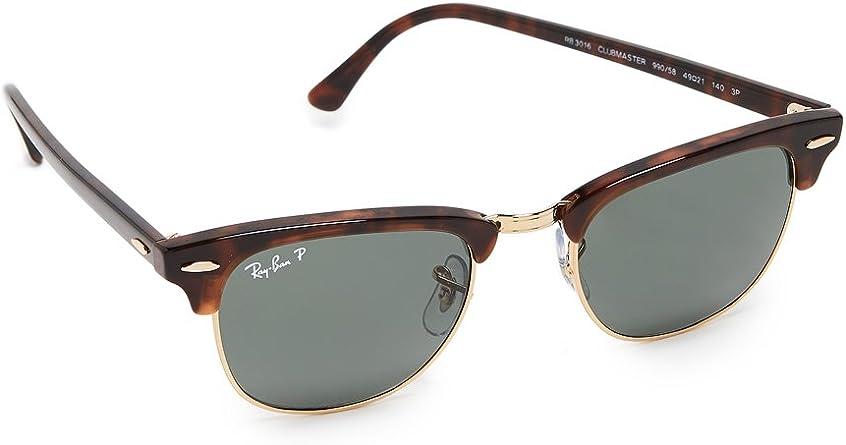 Ray Ban Clubmaster Gafas De Sol Polarizadas Para Mujer Clothing