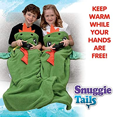 Snuggie Tails Dragon Blanket- Comfy, Cozy, Super Soft, Warm, All Season, Wearable Blanket for Kids, As Seen on TV: Home & Kitchen