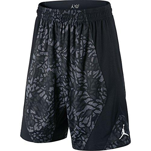Jordan Dominate 2.0 Printed Traning Men's Shorts Black/Grey 615072-011 (Size 2X)