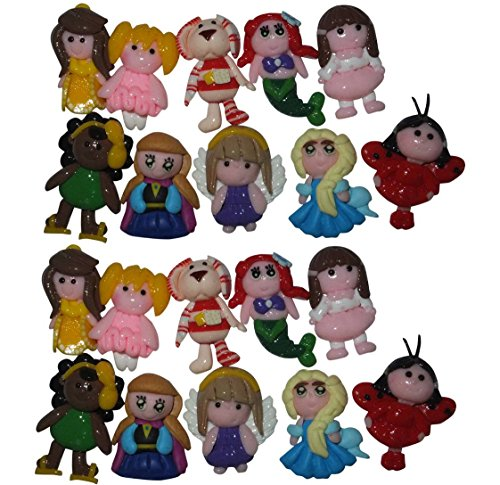 20pcs Boutique Handmade Polymer Clay Pendants Perfect for Girl Baby Hair Bows (Boutique Polymer Clay)