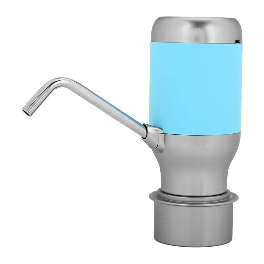 Lucy Day Wireless Electric Automatic Water Bottle Pump Smart Dispenser with Usb Rechargeable Electric Battery Drinking Water Bottle Pump (Color : Blue)