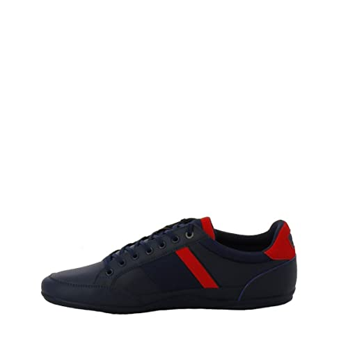 Lacoste 736CAM0008ND1 - Zapatillas de Deporte de Otra Piel Hombre, Azul (Azul), 43 EU: Amazon.es: Zapatos y complementos