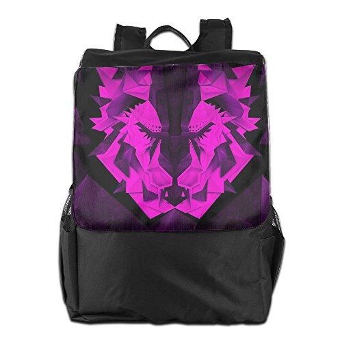 Beach Surfer Travel Backpacks Origami King Lion Bookbag
