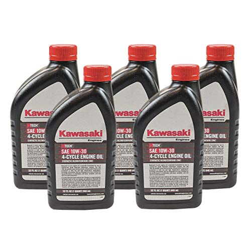 Pack of 5 Kawasaki 99969-6081 Genuine OEM K-Tech SAE 10W-30 4-Cycle Engine Oil