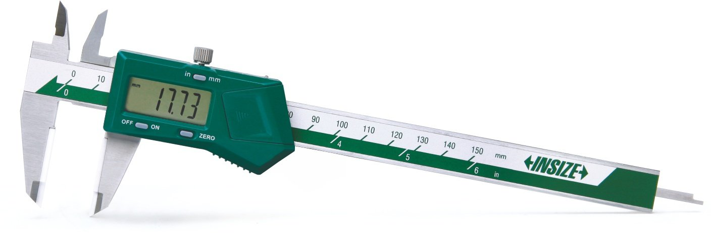 0-8//0-200 mm INSIZE 1110-200A Electronic Caliper with Carbide Tipped Jaws