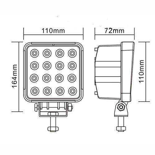 Rolinger-2-PCS-5Inch-48w-LED-Work-Light-Spot-Beam-High-Power-30-Degree-10-30V-DC-Driving-Lamp-Offroad-Light-Bar-for-4WD-4X4-ATV-SUV-Jeep-Fog-Light