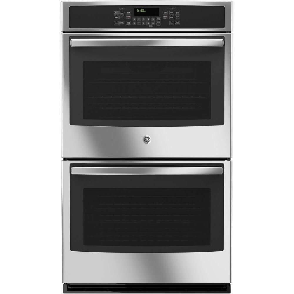 """GE JT5500SFSS 30"""" Stainless Steel Electric Double Wall Oven - Convection (Certified Refurbished)"""