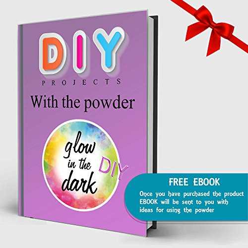 Pigment Powder - 10 Glow in The Dark and 2 Glitter. Amazing Effect! Non-Toxic and Safe for Slime, Soap, Bath Bombs, Resin and All Arts and Crafts. Total 5.6 oz. Plus Bonus eBook of DIY Projects