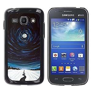For Samsung Galaxy Ace 3 III / GT-S7270 / GT-S7275 / GT-S7272 Case , River Night Winter Nature Painting - Diseño Patrón Teléfono Caso Cubierta Case Bumper Duro Protección Case Cover Funda