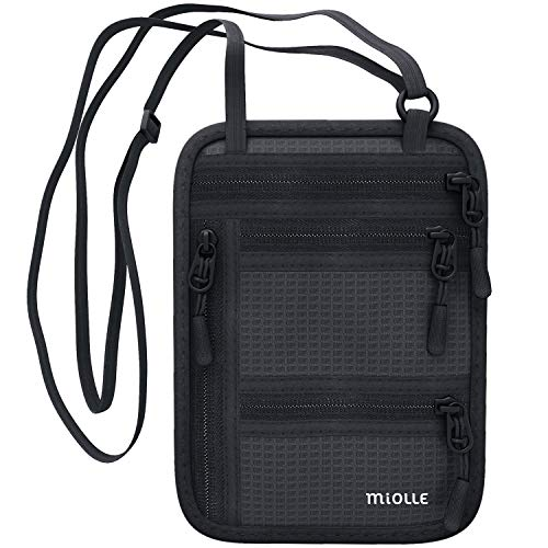 Neck Wallet - Passport Holder - Rfid Travel Pouch - Anti Theft Waterproof Security Hidden Neck Bag For Men And Women
