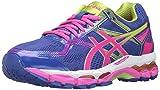 ASICS Women's Gel-Surveyor 5 Running Shoe, Blue/Pink Glow/Neon Lime, 11.5 M US