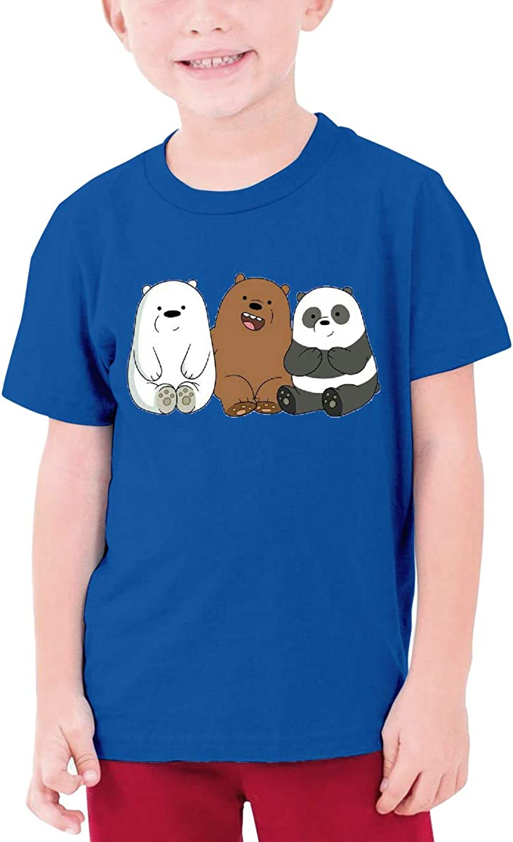 Runxin Custom We Bare Bears Funny Tshirts Short Sleeve for Teenagers Black