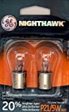 GE P21/5WNH/BP2 Nighthawk Automotive Replacement Bulbs, Pack of 2