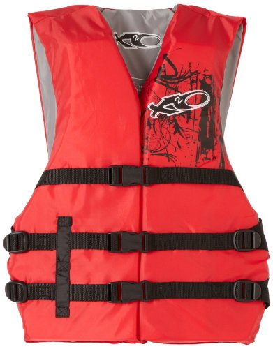 X20 Universal Adult Life Jacket Vest - Red & Black price