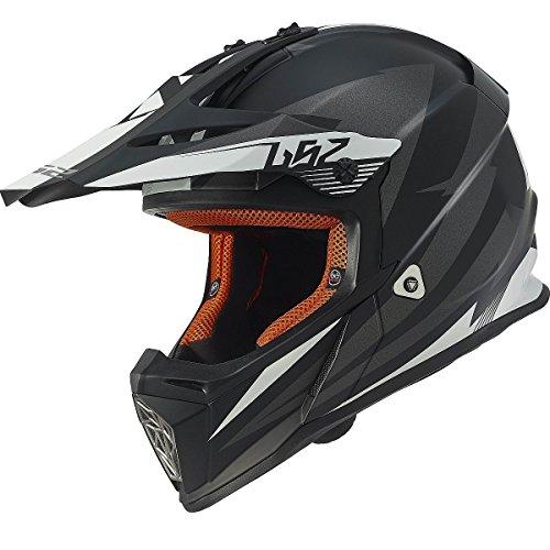 Race Helmet Small (LS2 Helmets Fast Race Off-Road MX Motorcycle Helmet (Grey, Small))