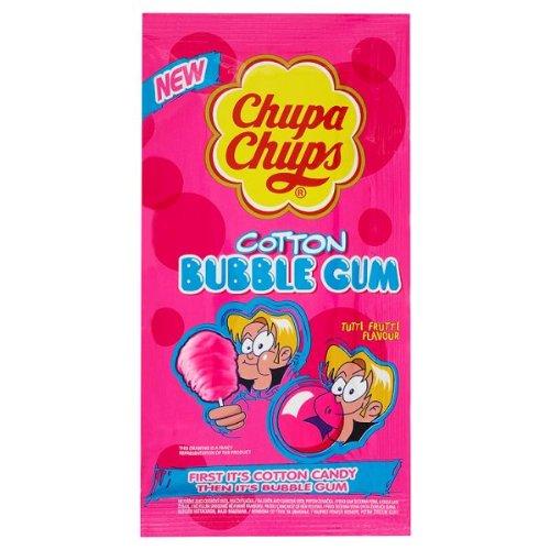 Chupa Chups Cotton Bubble Gum Tutti Frutti Flavour 11g (Pack of 144x sgl)
