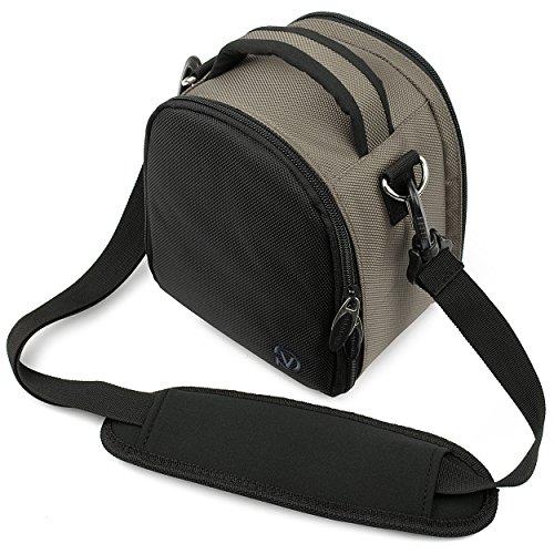 VG Steel Gray Laurel DSLR Camera Carrying Bag with Removable Shoulder Strap for Pentax K x Digital SLR Camera