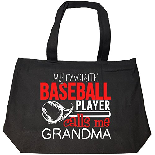My Favorite Baseball Player Calls Me Grandma - Tote Bag With Zip