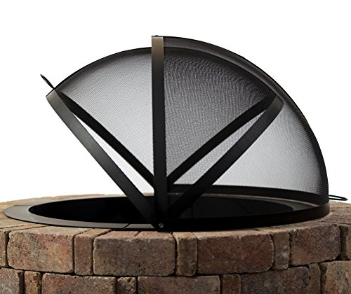 Spark Screen - Hampton's Buzaar 36 Inch Fire Pit Easy Access Spark Screen