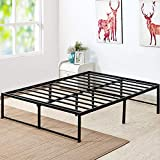 VECELO 14 Inch Platform Bed Frame/Mattress Foundation/No No Box Spring Needed/Steel Slat Support (Queen Size), Black