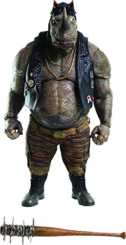 ThreeZero Teenage Mutant Ninja Turtles: Out of the Shadows: Rocksteady 1:6 Scale PVC Figure (Teenage Mutant Ninja Turtles Bad Guys)