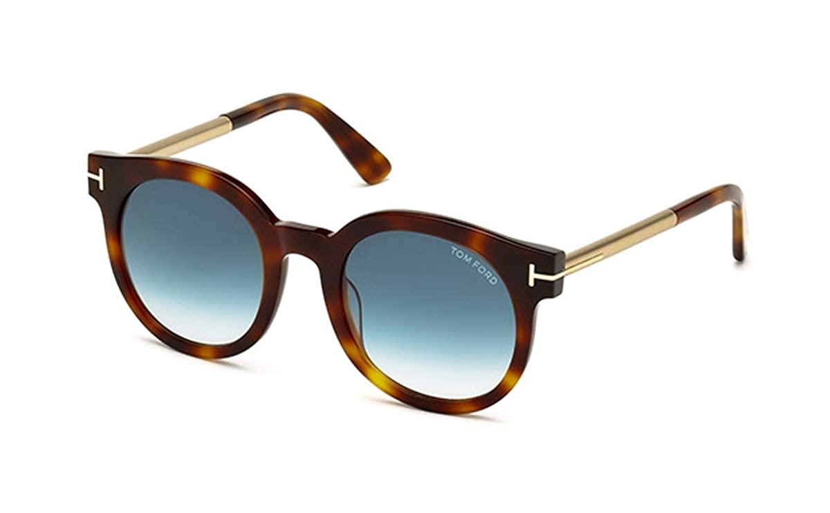 aec34f57b3230 Tom Ford Sunglasses - FT0435 Janina 52P - Havana Gradient Blue (51 22 140)  at Amazon Men s Clothing store