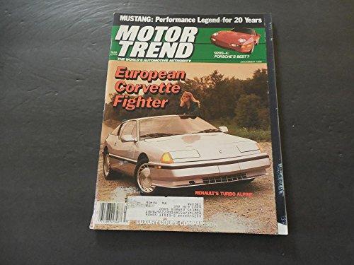 Porsche 928s4 - Motor Trend Dec 1986 Mustang; Porsche 928S-4; Renault Turbo Alpine