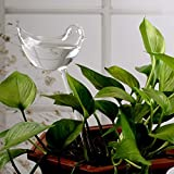 Automatic Potted Waterer Self Plant Watering Bird Glass Drip Auto Feeder Smart House indoor Desk Plants Food Water Container Can Irrigation Irrigator Controller Drippers Adapter kids (2pcs Birds)