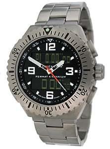 Momentum 1M-SP24B0 - Reloj analógico y digital de cuarzo para hombre con correa de titanio, color gris