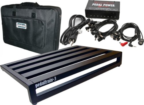 "Pedaltrain PT-3 24""x16"" Pedalboard + Soft Case w/ Voodoo Lab Pedal Power 2 Plus Power Supply"