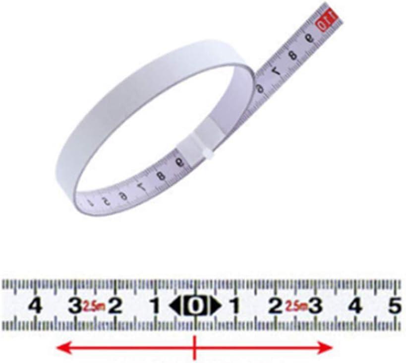 0-0.8 m Doolland autoadesivo metrico righello mitra traccia metro a nastro acciaio mitra sega scala per t-track router tavolo banda sega strumento di lavorazione del legno