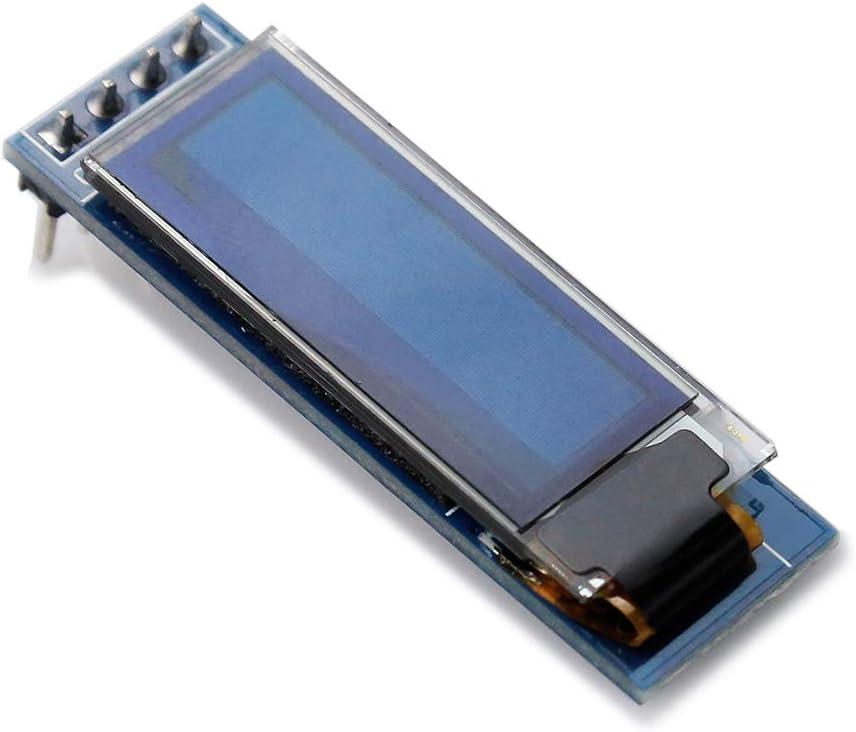 WayinTop 3PCS 0,91 Zoll OLED Display Module Anzeigemodul I2C Serielle Schnittstelle SSD1306 128x32 OLED Bildschirm Treiber DC 3.3V-5V f/ür Arduino ESP32 ESP8266 AVR PIC STM32 Raspberry pi Blau