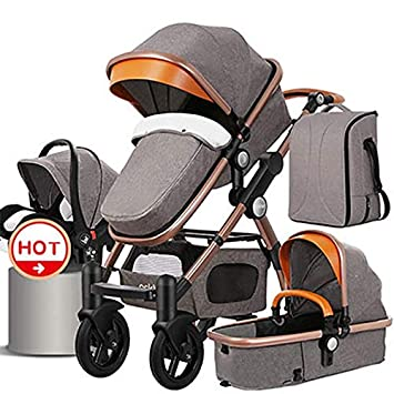 e69554e948ea Amazon.com   Luxury Baby Stroller 3-in-1 and 4-in-1 high Landscape Stroller Travel  System Stroller car   Baby