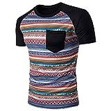 TOOPOOT Men s O-Neck Short-Sleeved T-shirt (L, A)