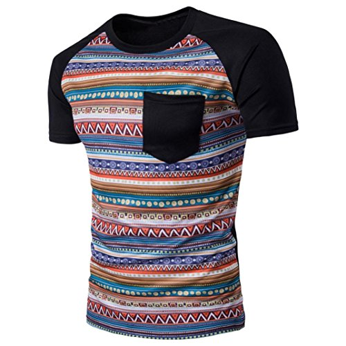TOOPOOT Men's O-Neck Short-Sleeved T-shirt (XL, A)