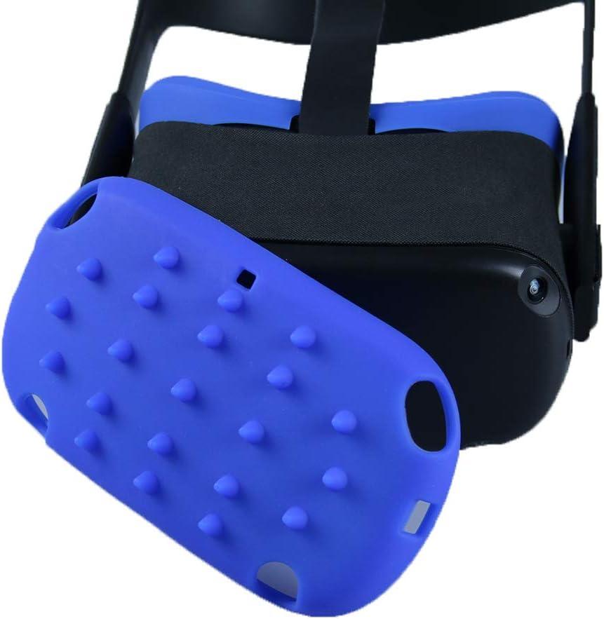 Carplink Silikon VR Gesichtsmaske /& Helm Schutz H/ülle f/ür Oculus Quest VR Headset Masken Face Cover mit Protector Anti-Fall Zubeh/ör Blau