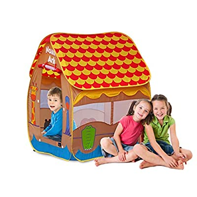 GigaTent Noah's Ark Pop-Up Play Tent Equipped with doors and windows for proper ventilation and visibility: Toys & Games