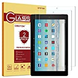 [2-Pack] Fire HD 10 Screen Protector, OMOTON Tempered Glass Screen Protector for Fire HD 10 with [9H Hardness] [Crystal Clear] [Scratch Resist] [Bubble Free]