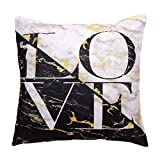 Hongxin Pillow Case,1PC 45×45cm Flannel Simple Upholstery Cushion Cover Flannelette Throw Pillow Cases Home Decor (E, 45×45cm)