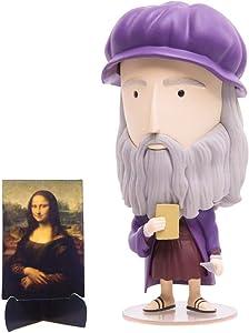 "Today Is Art Day - Famous Painters and Artists Action Figure Dolls - DaVinci - PVC - 5""H x 3""L x 3""L"