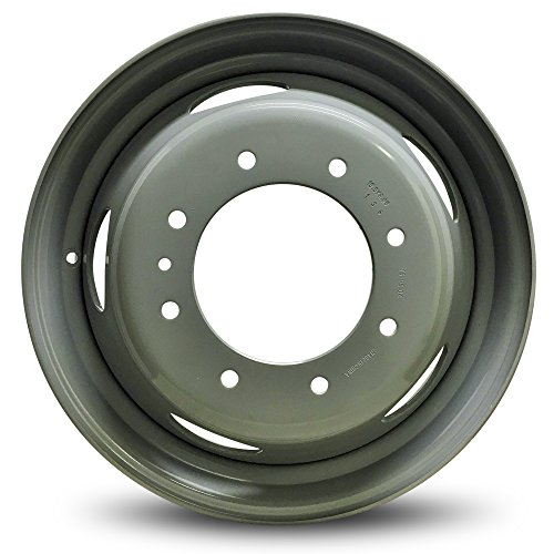 Road Ready Car Wheel For 2002-2003 Ford E550SD 1999-2003 Ford F450SD Ford F550SD 19 Inch 8 Lug Black Steel Rim Fits R19 Tire - Exact OEM Replacement - Full-Size