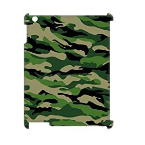 Camouflage Pattern 3D-Printed ZLB561164 Customized 3D Cover Case for Ipad 2,3,4