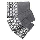 Bath Towels, Sinatra Collection, 3-Piece Set, Silver